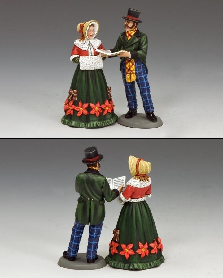 Christmas Carol Singers Figurines.Carol Singers Set 1