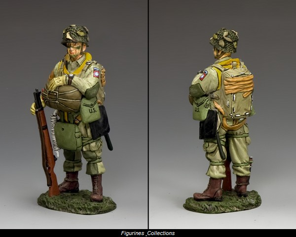 standing paratrooper 82nd airborne figurines et collections. Black Bedroom Furniture Sets. Home Design Ideas