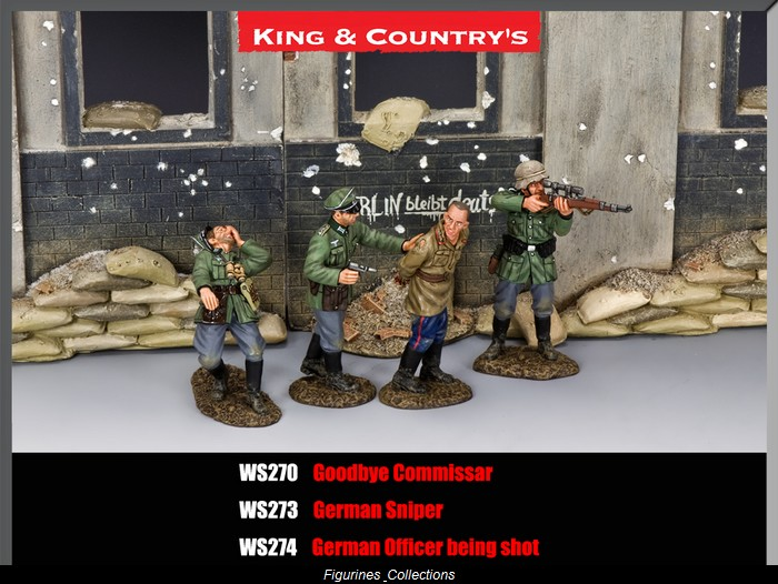 WS274 German Officer being shot by King /& Country
