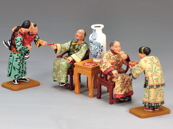 Hk m celebrating chinese new year figurines et collections