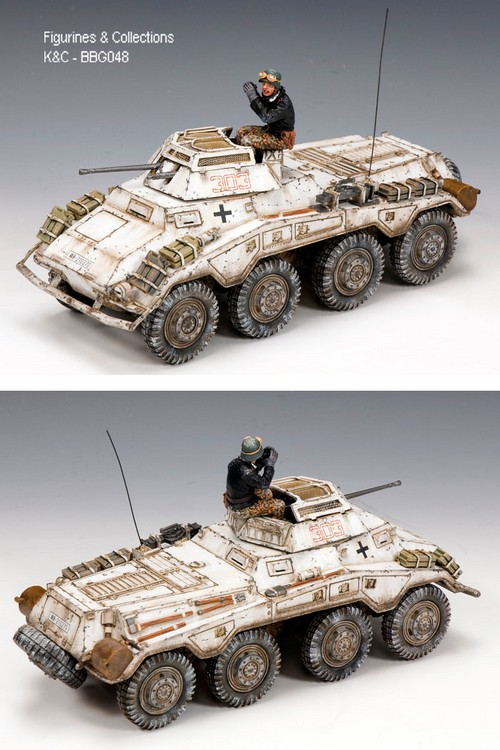 Winter Version BBA050 US Armored Jeep by King and Country