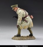 British Officer in Trench coat with pistol.
