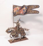 PB412.3 Maximilian Knight in Ceremonial Armor, Holding Flag
