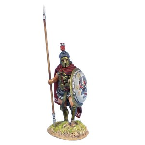 AG062 Greek Hoplite Standing with Cloak and Dory