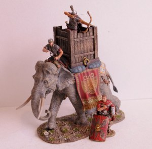 ROM048 Roman War Elephant + officer ROM059A