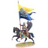 TYW005c Polish Winged Hussar Prince Alexander Sobieski's Battle Flag at Vienna 1683
