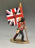Coldstream Guards Officer with Regimental Flag