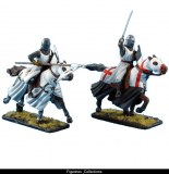 Mounted Crusader Knights Charging