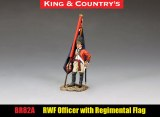 BR082A RWF Officer with Regimental Colour