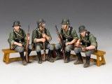 WW2 Wehrmacht Sitting Soldiers