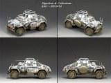BBG054 Sd. Kfz. 222 Armoured Car -Winter RETIRE sans boite d'origine