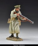 British Officer in Trench coat with rifle