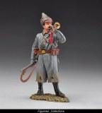 Bugler wearing Budenovka hat