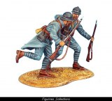 French Infantry Sergeant Pulling a Private Forward