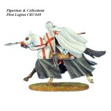 Mounted Crusader Templar Knight Charging