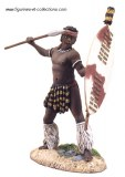 WB 20053 Zulu uDloko Regiment throwing Assegai #1