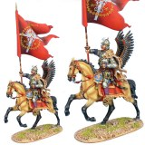 TYW005B Polish Winged Hussar Battle Standard Bearer