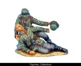 German Assisting Wounded Vignette