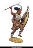 iNgobamakhosi Zulu Warrior Charging with Spear and Shield