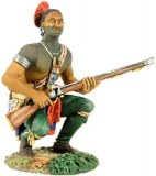 Indian Squatting, Waiting with Musket