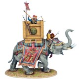 AG066 Persian Indian War Elephant (Elephant and 3 Figures)