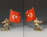 AL098 Turkish Officer w/ Flag