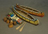 JJD CAN-09 Two Small Canoes and Accessories