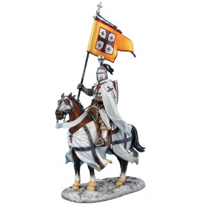 CRU107 Mounted Teutonic Knight Standard Bearer