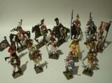 Starlux Metal : LOT 5 Cavaliers -10 Pietons - Napoleonien