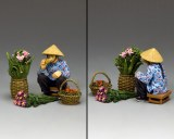 HK281(M) The Hakka Flower Seller ( Matt)