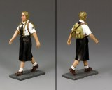 LAH241 Marching BDM Girl w/Backpack (Blonde)
