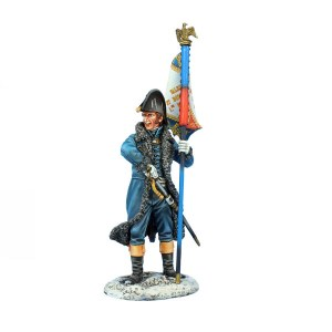 NAP0608 Dutch Officer with Standard - 124th Line Infantry PRE ORDER