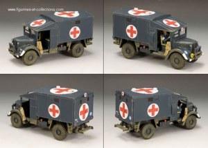 RAF015 RAF Austin K2 Airfield Ambulance LE250 RETIRE - Sans boite d'origine