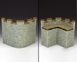 RF004(G) Roman Fort Corner Wall Section (Greystone)