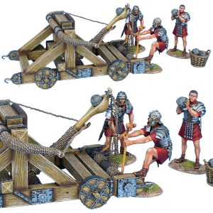 ROM180 Roman Onager with 3 Crew - Red Tunics