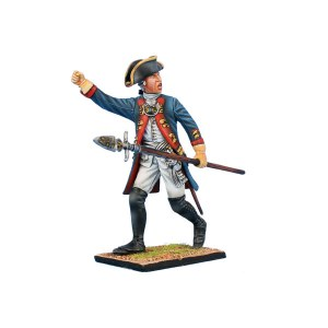 SYW046 Prussian Grenadier Officer Advancing