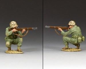 USMC020 Crouching Marine Firing Rifle