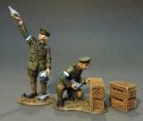Royal Engineers Signal Service(RESS), 2 Pigeon Handlers (3 pcs)