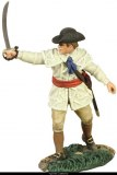 Colonial Militia Officer Pointing with Sword