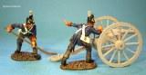 British Foot Artillery, 2 Crew Aiming,