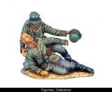 German Assisting Wounded Vignette