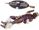 WB 20097 Zulu Warrior Casualty No.1 - 1 piece set in Clam Pack