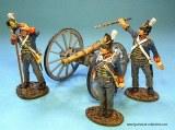 British Foot Artillery, 3 Crew Firing