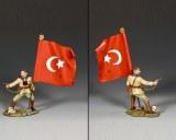 AL098 Turkish Officer w/ Flag