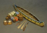 JJD CAN-08 Large Canoe and Accessories