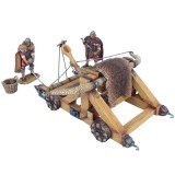 FL ROM235 Winter Roman Onager with 2 Crew Figures, Basket, and 2 Stones