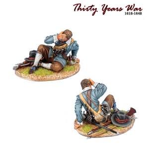 TYW024 Spanish Tercio Musketeer Casualt