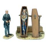 WW016 Undertaker and Gunfighter in Casket