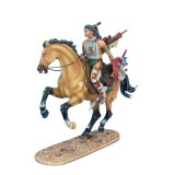WW020 Mounted Cheyenne Indian with Spear