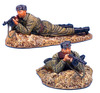 FL RUSSTAL007B Russian Infantry Laying with MP40 - Fur Hat